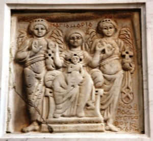 Madonna di Efeso - bassorilievo coopto custodito in Cattedrale
