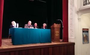 il tavolo dei relatori con Bellinetti Crepaldi Bellettato e Rondina