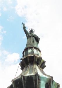 STATUA S. PIETRO SULLA CUPOLA DEL CAMPANILE